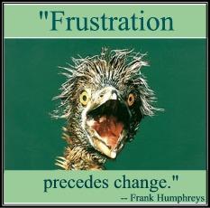 """""""Frustration precedes change."""" -- Frank Humphreys"""