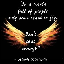 """In a world full of people, only some want to fly. Isn't that crazy?"" -- Alanis Morissette"