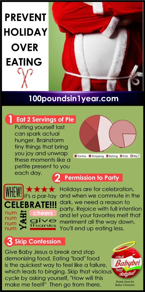 Prevent Holiday Overeating with These 3 Tips from 100poundsin1year.com